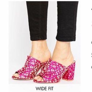 Asos wide fit mules